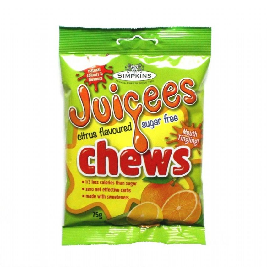 Mixed Citrus - Juicees No Added Sugar Free Chews Sweets Simpkins 75g